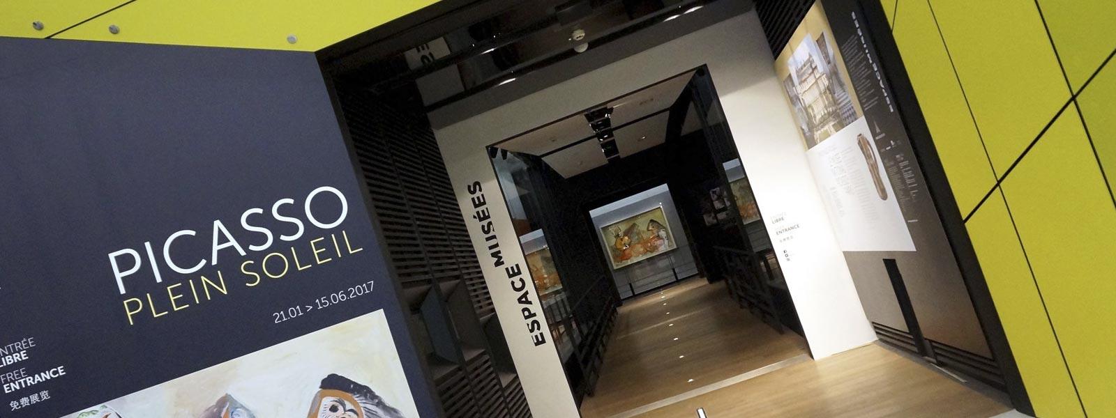 Picasso à l'aéroport de Roissy, une muséographie réalisée par PUBLIMARK